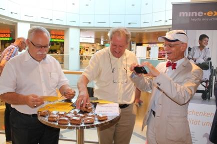 Rotary Tag vom 10. September 2016, Besuch von DG Franz-Xaver Stadler am Stand im Mythen Center Schwyz
